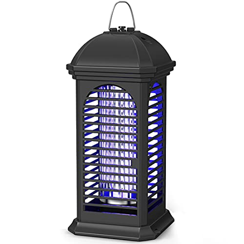 Electric Mosquito Zapper, 11W Powerful 4200V Insect Killer, Safety Fly Repelled Lamp, Light-Emitting Flying Insect Trap for Indoor, Backyard, Farm(Black)