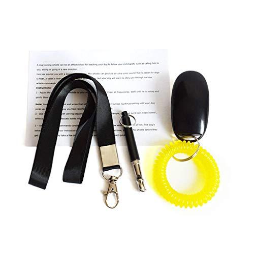 Lyguy Pet of Dog Training Tools, Pet Training Set Hond Training Ring Clicker Fluitje Zwart Lanyard Handig Effectief Gehumaniseerd Professioneel Ontwerp