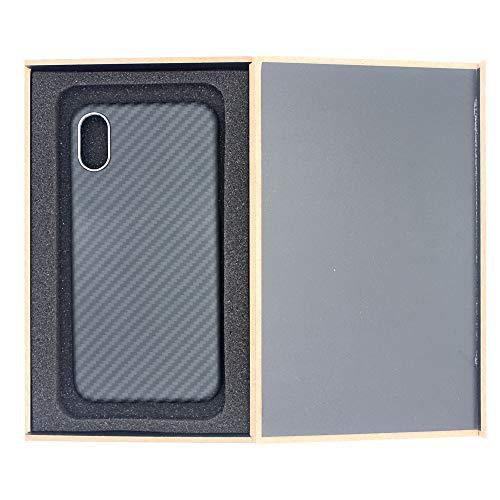 JLFDHR Funda de Fibra de Carbono iPhone XS MAX Funda de Fibra de aramida Brillante Lujosa Cubierta Protectora de luz súper Delgada para iPhone XS MAX-para iPhone XS MAX