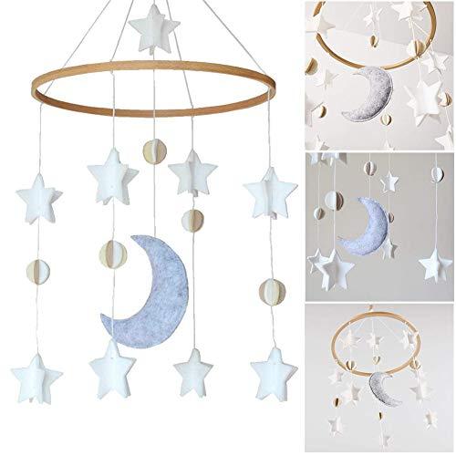 Minear Stern Mond Windspiel, Filz Windspiel, Garten Dekor Windspiel, Windspiel Für Indoor Outdoor Dekoration Ornament