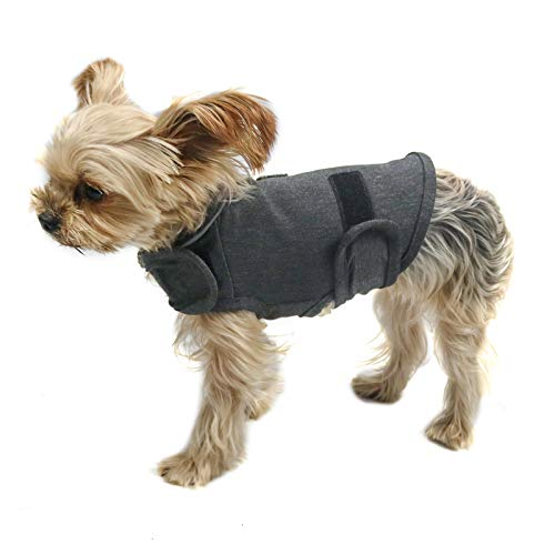 Comfort Dog Anxiety Relief Coat, Dog Thunder Vest Calming Anxiety Wrap, Reduce Stress Thunder Jacket Shirts for Dogs (Gray XS)