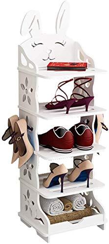 Ranuras de zapato ajustables Organizador Bastidores de zapatos Estante de zapatos Zapatos para niños Organizador Conejo Zapato Rack Zapato Multi-Capa Montaje Simple Conjunto Adecuado Para Entradas Hab