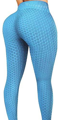 Butt Lift Yoga Pantalones De Cintura Alta Entrenamiento Botín Polainas Burbuja Texturizado Scrunch Medias - - Medium