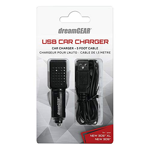 dreamGEAR USB Car Charger For your New 3DS XL and 3DS XL - Nintendo 3DS