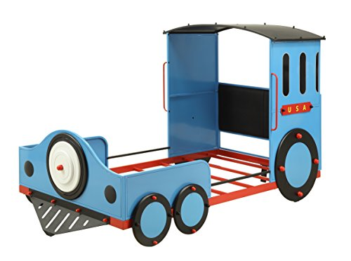 Acme Tobi 37560T - Cama Individual (Tren Azul/Rojo y Negro)