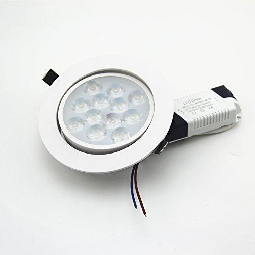Lot de 2 plafonniers LED ronds à économie d'énergie Blanc 12 W 3000 K