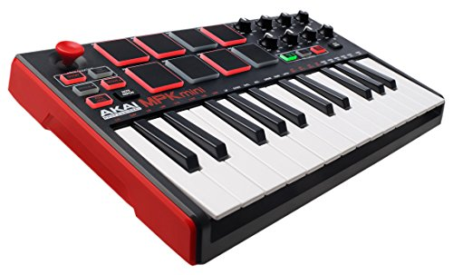 Akai Professional MPK Mini MKII | 25-Key Portable USB MIDI Keyboard With 16 Backlit Performance-Ready Pads, 8-Assignable Q-Link Knobs & A 4-Way Thumbstick