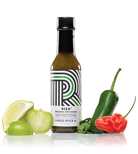 RIZA Ghost Pepper Hot-Sauce von FUEGO SPICE co., intensiv und ausbalancierte Chilisauce, 148ml