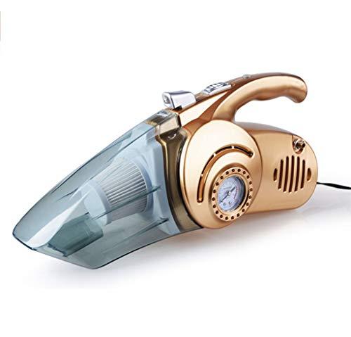 XIAODIANER handstofzuiger high-power autostofzuiger banden oppompen nat- en droogreiniging met LED-verlichting draagbaar voor auto (goud)