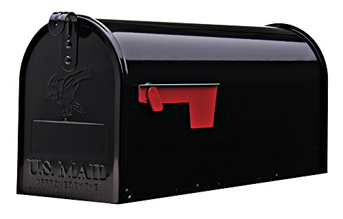 Gibraltar Mailboxes Elite Medium Capacity Galvanized Steel Black,...