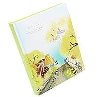 A-BIENTOT(アビアント) イラスト日記 手帳 メモ帳 日付なし デザインノート A5 280ページ しおり付き (グリーン)
