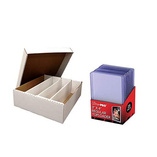 Ultra Pro Regular carga superior 3 x 4 (25 piezas) con BCW Monster Caja de almacenamiento, capacidad para 3.200 tarjetas de tamaño estándar