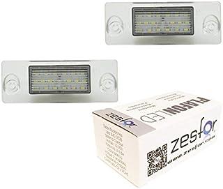 Zesfor Luces de matr/ícula LED para Volvo S60 01-06