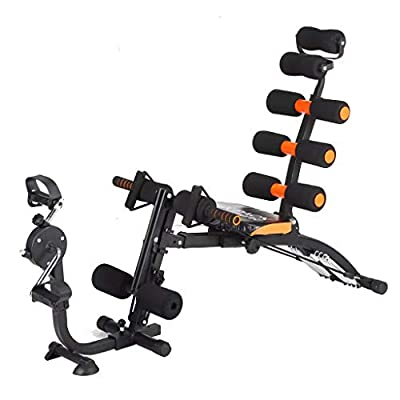 Core & Abdominal Trainers, Twister Trainer Ab Exercise Machine with Bicycle Pedal, Height Adjustable Incline Sit-up Workout Equipment Abs Exercise (Black)