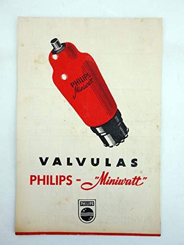 Folleto Catalogo Válvulas Philips Miniwatt 16,5X11. Miniwat