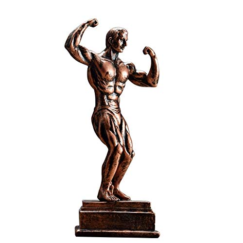 GXFCQKDSZX Statue Bodybuilding Muskel Mann Skulptur Europäische Harz Ornamente Charakter Statue Kunst Home Decoration