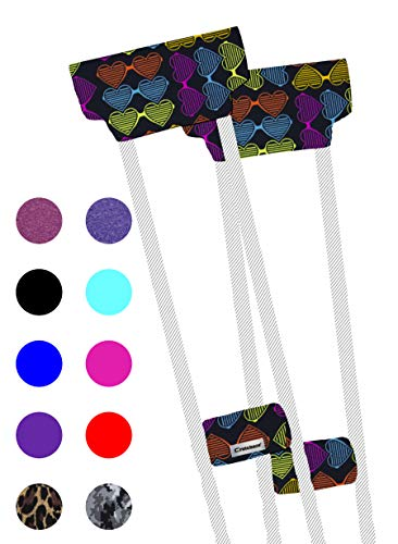 Crutcheze Premium USA Made Crutch Pad and Hand Grip Covers | Comfortable Underarm Padding Washable Breathable Moisture Wicking Orthopedic Products Crutch Accessories (Love It)