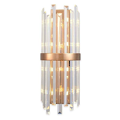ChangHua1 lámpara de Pared Lámpara de Pared Interior LED 10W Luz posmoderna Creativa K9 Aplique de Pared de Cristal Lámpara de Pared de Oro Rosa Sala de Estar Comedor Villa Mesita de Noche Dormitorio