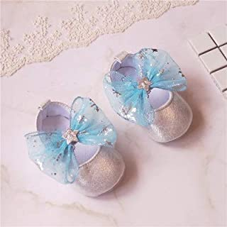 YOUPIN Bowknot Flower Baby Shoes Baby Shoes 0-1 Year Old Toddler Shoes 0-6-12 Months Soft Cloth Princess Shoes Spring and ...