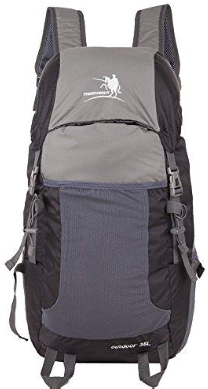 Lounayy Wasserdichter Bergsteigen Rucksack Sport Mode Stylisch Im Wandern des Freiensport 40L Blau (Farbe   Dunkelgrau, Größe   One Größe)