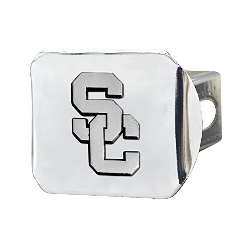 FANMATS - 14975 NCAA Univ of Southern California Trojans Chrome Hitch Cover,3.4