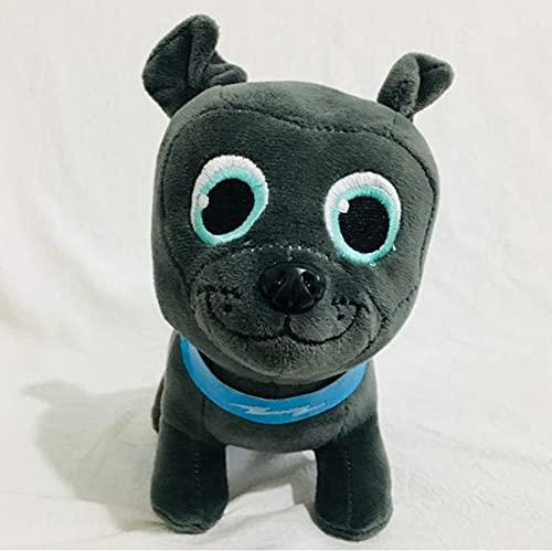 WPQL Precioso Juguete De Peluche De Perros Negros, Juguetes Blandos De Animales De Dibujos Animados, Muñeco De Abrazo Gordito, para Niños, Cumpleaños,, 18 Cm