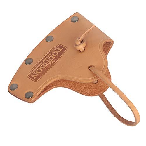 TOURBON Dicker Leder-Axtklingenschutz mit Umhängeband, Kopfholster, Beilischschutz