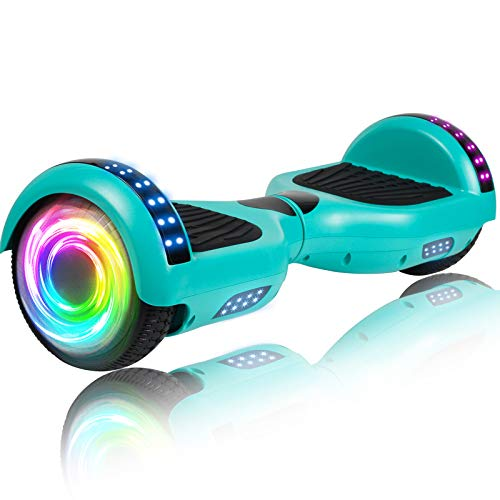 """SISIGAD Hoverboard 6.5"""" Self Balancing Scooter with Colorful LED Wheels Lights Two-Wheels self Balancing Hoverboard Dual Motors Hover Board"""
