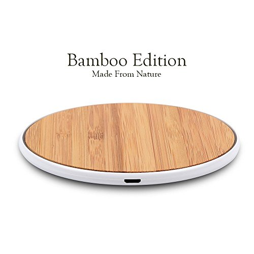 SurgeDisk Wireless Charger Qi Charging Pad Ultra Slim Sleep-Friendly Universal Newest Model Compatible with iPhone 11 Pro iPhone X 8 Plus 8 Samsung...
