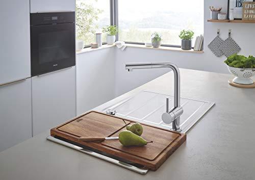 Grohe – Minta Küchenarmatur mit herausziehbarem Auslauf, L-Size, Chrom - 9