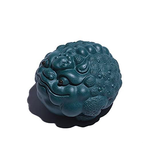 noyydh 紫色の粘土の素敵な茶碗PETグリーン泥中国マスコット彫像茶道飾り卓上手芸
