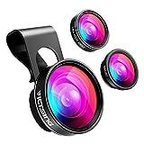 VicTsing Phone Camera Lens,180° Fisheye Lens+0.65X Wide Angle Lens &...