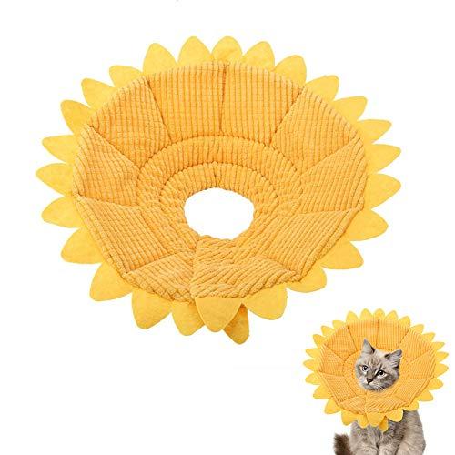 Smandy Schutzkragen Halskrause Pet Recovery E Collar Baumwolle Sunflower Collar Neck Cone Kegelkragen Pet Protective Collar für Hund und Katze (20-23cm)