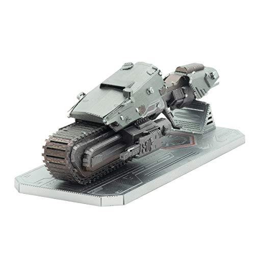 Kits de construccion Metal Earth de naves espaciales de Star Wars, episodio 9, en 3D : moto aerodeslizadora de la Primera Orden