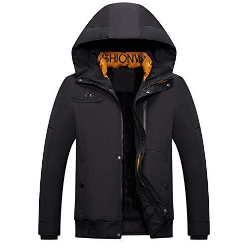 Mens Mountain Snow Rain Waterproof Black Ski Jacket with Hood