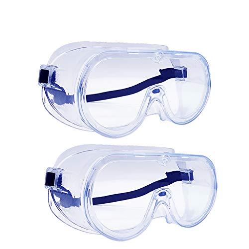 2 Stück Schutzbrille, Barley Direct Antibeschlag Antispeichel Professionelle Augenschutz für Baustelle, Werkstatt, Garten und Radsport