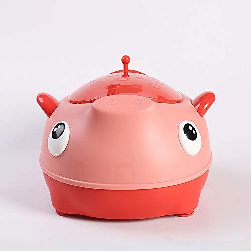 HKANG Toilette WC per Bambini Sedile Bambino Piccolo Allenatore Vasino Sedile del Water Formazione Vasino Design Portatile,Red