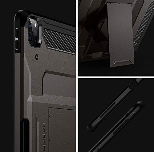 SpigeniPadPro12.9ケースカバー20202018衝撃吸収耐衝撃ApplePencil収納スタンドホルダー付きシュピゲンタフアーマープロACS01028(ガンメタル)