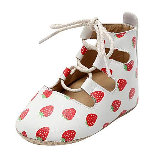 Alwayswin Neugeborene Baby Mädchen Weiche Schuhe Erste Wanderer Schuhe Booties Lauflernschuhe Mode Schnürschuhe Leder Stiefeletten Flache rutschfeste Kurze Stiefel Babyschuhe