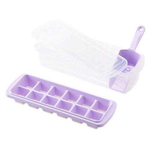 WEIAIXX Hausgemachte Eisform Mit Deckel Kühlschrank Kühlbox Kreative Gefrierbox Eis Box Tiefkühlkoffer Farbe Lila Anzug + Schaufel