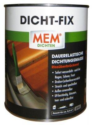 MEM Dicht- Fix - 750 ml - Abdichtung von Undichtigkeiten- Untergründen wie Dachpappe, Schweißbahnen, Aluminium - Dichtungsmasse für alle kleinen Reparaturen - Wasserdicht - UV- beständig - 30822541