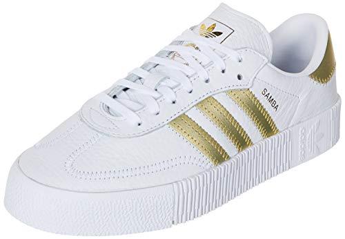 adidas Damen SAMBAROSE W Sneaker, Weiß FTWR White Gold Met FTWR White 10013402, 40 EU