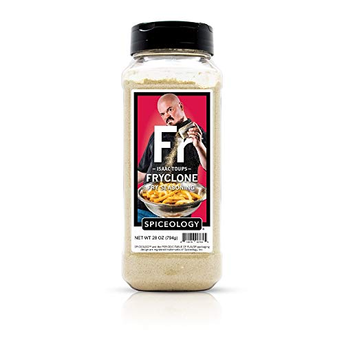Isaac Toups - Fryclone - Fry Seasoning - Use on Fries, Mac and Cheese, Popcorn, Potatoes and Veggies