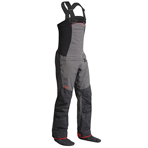 Nookie Pro Bib Double Waist Dry Trousers in Charcoal Grey. Waterproof & Breathable - Easy Stretch