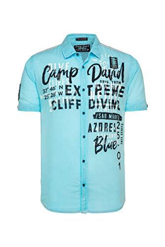 Camp David Herren Leichtes Freizeithemd mit Frontprint