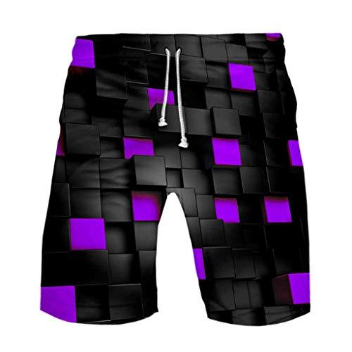 CLOOM Impresión 3D Hombre Pantalones De Playa De Veranobañador Traje De Baño Hombre Cargo Shorts Pants Deportivos Hombre para Surf del Hawai Pantalónes Cortos