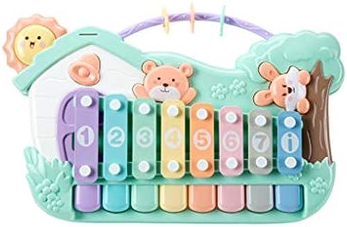 HXGL-Klopfen Sie am Klavier Klopfen das Klavier Acht-Ton-Klavier Kinderh e klopfen am Klavier Musik Spielzeug Geburtstagsgeschenk (Farbe   Grün)