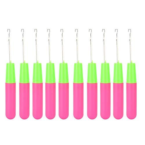Ensemble d'outils Dreadlocks en plastique + acier inoxydable 10 pièces, crochets Dreadlock, pour tresses d'extensions de cheveux