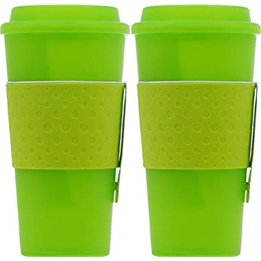 Copco Acadia Travel Mug, 16-Ounce, Lime (2 Pack)