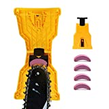 Ostekin Chainsaw Sharpener, Chainsaw Sharpening Kit with 4 Chainsaw Sharpening Stones, Universal for 14' 16' 18' 20' Two Holes Chain Saw Bar
